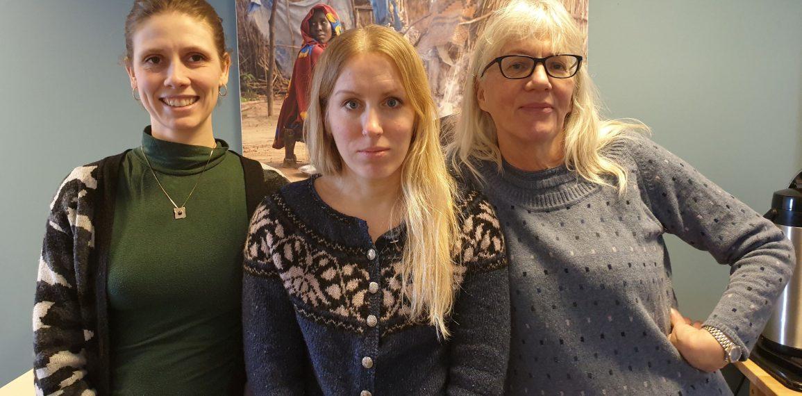 Júlía, Sædís og Vilborg, félagsráðgjafar Hjálparstarfs kirkjunnar